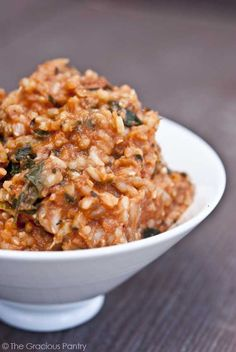 Clean Eating Spaghetti Rice With Spinach