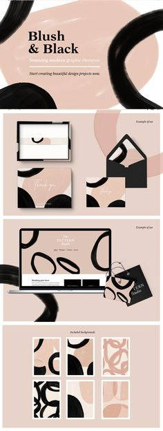 VISIT FOR MORE The post Make gorgeous stationery wedding invites & more with this blush & black watercolor pattern design. appeared first on Backgrounds. What Is Brand Identity, Brand Identity Design, Branding Design, Identity Branding, Label Design, Packaging Design, Mehndi Designs, Web Design, Type Design