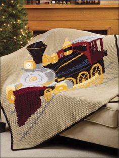 Crochet - Afghan & Throw Patterns - Baby Blanket Patterns - Locomotive Afghan...GOT TO MAKE THIS!!!! WOW!!!! (to purchase)