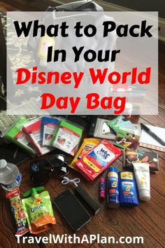 Heres what we pack in our Disney park bag for hassle-free family travel! Pack the perfect Disney day bag with all of these essentials to help make your vacation more enjoyable. - Travel Orlando - Ideas of Travel Orlando Voyage Disney World, Disney World Packing, Disney World Vacation Planning, Disneyland Vacation, Disneyland Tips, Disney Day, Disney World Parks, Walt Disney World Vacations, Disney Planning