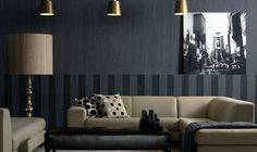 textile and wall covering in modern tapestry in black