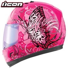 Shop for , like Icon Women's Alliance Chrysalis Helmet at Jake Wilson. We have the best prices on cruiser and street bike motorcycle parts, apparel and accessories and offer excellent customer service. Motorcycle Boots Outfit, Pink Motorcycle, Scrambler Motorcycle, Motorcycle Gear, Motorcycle Accessories, Motorcycles, Motorcycle Design, Head Accessories, Biker Helmets