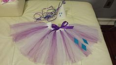 Rarity theme tutu and party hat