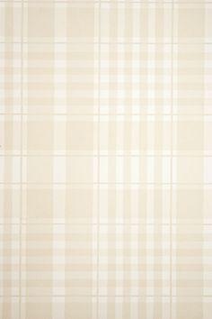 Rut Plaid Wallpaper Pale fawn and white plaid wallpaper.