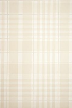 Rut Plaid Wallpaper Pale fawn and white plaid wallpaper.