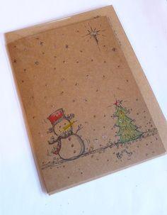 Hand Drawn Christmas Card   http://folksy.com/items/4820412-Hand-Drawn-Christmas-Card