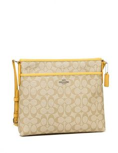 Coach Signature Print File Crossbody Bag