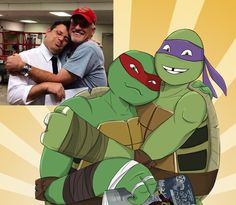 The voices of Raph and Donnie by Myrling on DeviantArt Anime Vs Cartoon, Cartoon Shows, Ninja Turtles Art, Teenage Mutant Ninja Turtles, Ninja Turtle Bedroom, Tmnt 2012, Turtles Forever, Cute Family, Memes