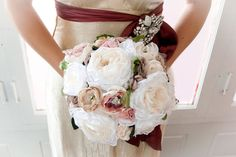 These vintage flower bouquets are stunning!