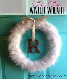 Faux Fur Winter Wreath by Pinterior Designer