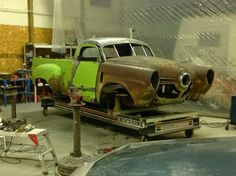 Rat Rod Cars, Hot Rod Trucks, Cool Trucks, Cool Cars, Weird Cars, Custom Garages, Custom Trucks, Hot Rod Pickup, Pickup Car