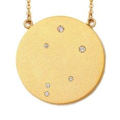 Vermeil Constellation Necklace. Display your sign with pride via one of these subtle pendants, which have minimalist depictions of the 12 constellations of the houses of the zodiac picked out in diamonds. $345.00