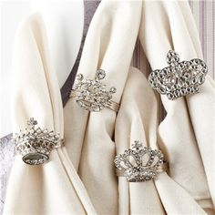 Crown Napkin Rings...so pretty! Wish I had seen these before the royal wedding - it would have been perfect for a party!