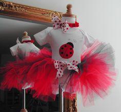 Ladybug First Birthday Tutu Outfit - Classic Ladybug