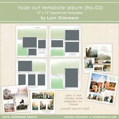 Fade Out Template Album No. 02- Lynn Grieveson - PSE/PS Template- LT172994- DesignerDigitals