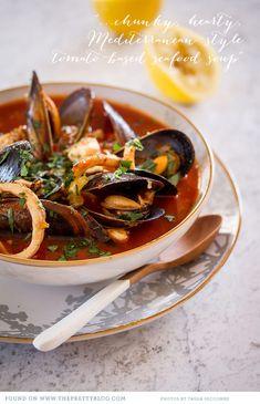 Mediterranean Seafood Soup {Recipe} | The Pretty Blog