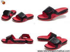 Low Price Black red 487332 010 Nike Air Lebron Slide
