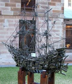 The Sculptors Society - Mr. Garner, 'Shipwreck', welded metal