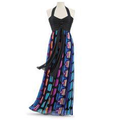Windowpane Maxi Dress - Women's Clothing & Symbolic Jewelry – Sexy, Fantasy, Romantic Fashions