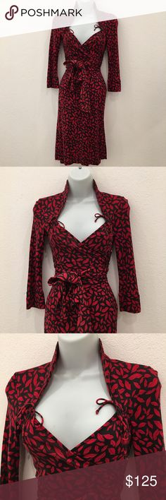 """Diane von Furstenberg Lips Gildred wrap dress 0 Preowned Authentic Diane von Furstenberg Lips print Gildred wrap silk dress size 0. Armpit to armpit is 13.5"""" inches. Chest to hem is 39"""" inches. Shoulder to cuff is 18"""" inches. Please look at pictures for better reference. Thank you for looking and happy shopping. Diane von Furstenberg Dresses"""