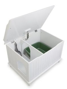 Catbox enclosure-Gotta have this. Then maybe the dog won't eat the cat poop!