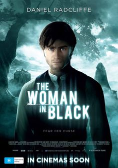 """The Woman in Black - In the first five minutes I did think """"Harry Potter got contacts?"""" - I think Daniel Radcliffe would have been more convincing as an older brother protecting his younger sibling vs a father - defintely jumped a few times! Daniel Radcliffe, Scary Movies, Good Movies, Awesome Movies, Hobbit, Funny Celebrity Pics, Horror Dvd, Horror Movies, The Woman In Black"""