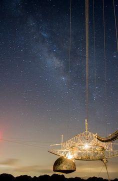 La Vía Lactea, desde el Observatorio de Arecibo en la noche de 11 de agosto de 2013