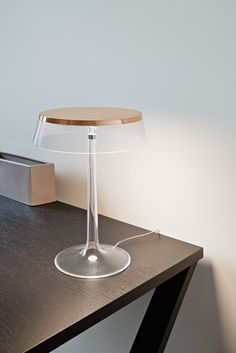 Buy online Bon jour By flos, led pmma table lamp design Philippe Starck, home collection - table Collection Track Lighting Fixtures, Light Fixtures, Lamp Design, Lighting Design, Rustic Lamps, Contemporary Table Lamps, Room Lamp, Brass Lamp, Unique Lamps