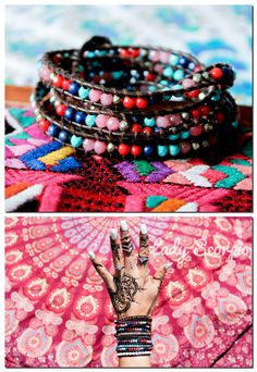 ♢ ✲ ♢ |NEW| EverWear Collective 5 Wrap Bracelet // $49 @EverWear | Mandala Tapestry by @LadyScorpio101 | Shop Now LadyScorpio101.com | Colorful, Handcrafted Jewelry for Bohemian Fashion | EverWear on Etsy | Photography by Luna Blue @Luna8lue