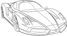 Ferrari Sport Car High Speed Coloring Page - Ferrari car coloring pages