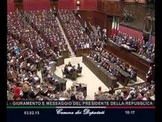 GIURAMENTO DEL PRESIDENTE DELLA REPUBBLICA 3/2/2015