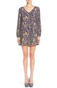 Leith LeithPrint Long Sleeve Dress available at #Nordstrom