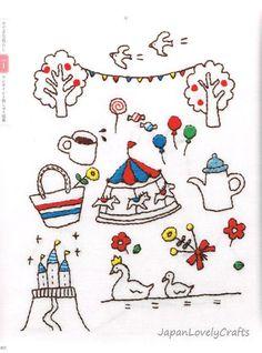 Kawaii Embroidery Patterns & Designs by JapanLovelyCrafts on Etsy: