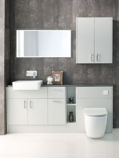 Most up-to-date Absolutely Free fitted Bathroom Furniture Strategies Bathing rooms are generally a crucial part of the family although besides their unquestionable relev Modern Bathroom Paint, Minimalist Bathroom Furniture, Minimalist Small Bathrooms, Fitted Bathroom Furniture, Modern Bathroom Accessories, Minimalist Bathroom Design, Modern Bathroom Lighting, Built In Furniture, Rustic Bathroom Decor