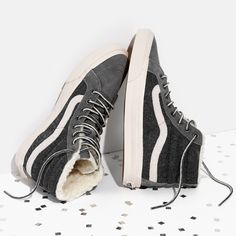 madewell x vans® weatherized classic sk8-hi high-top sneakers.