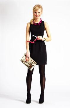 Fancy Affair: kate spade new york sheath dress & accessories #Nordstrom #Holiday