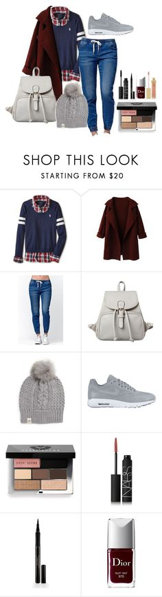 """Untitled #310"" by neverbewe ❤ liked on Polyvore featuring U.S. Polo Assn., Bullhead Denim Co., UGG Australia, NIKE, Bobbi Brown Cosmetics, NARS Cosmetics, Elizabeth Arden, Christian Dior and AERIN"
