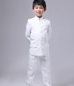 H1008 Children Chinese Tunic Suit High Quality Kids Set Spring Autumn Boys Photography Props Party Show by HHCbridal on Etsy