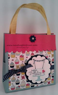 Stampin'Up! 3D Gift Purse/bag  www.creatingforgrace.com