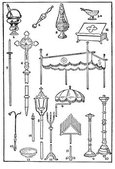 OTHER CEREMONIAL ACCESSORIES. - Sacristan's Manual for the Extraordinary Form - SanctaMissa.org