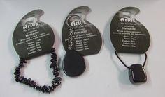 Gemstone : Set of Three: Zodiac -- Birthstone Hematite Aries - Key Ring, Cord Necklace & Bracelet. | BirthstoneRing