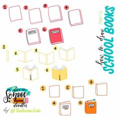 Back to school doodles ©TheRevisionGuide Doodles and lettering from… Doodle Drawings, Easy Drawings, Doodle Art, Japanese Drawings, Bullet Journal Inspo, Bullet Journal Layout, Banners, Planner Doodles, Kawaii Doodles