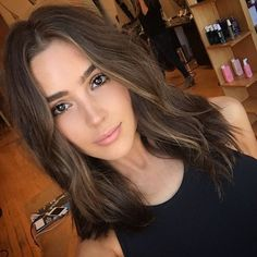 50 Cute and Trendy 😎 Long Bob Inspos 💡 for Girls Sick of 😫 Long Hair ✂️ … - Shoulder Length Hair 2015 Hairstyles, Long Bob Hairstyles, Summer Hairstyles, Olivia Culpo Hair, Medium Hair Styles, Short Hair Styles, Hair Color And Cut, Dark Hair, Thick Hair