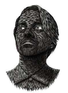 Self Portrait - illustrator Alex Konahin.