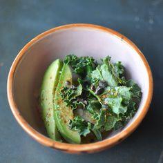 Oatmeal with Kale  Avocado