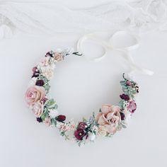 7 X Vintage Shaded Ivoire /& Soie Rose Pâle Roses 7 cm lié Bunch//petit bouquet