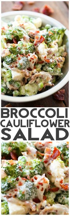 this salad is AMAZING! The creamy dressing is beyond delicious and goes perfectly with the crisp broccoli and cauliflower! This is one recipe you are going to want to try out! Broccoli Cauliflower Salad - Chef in Train Broccoli Cauliflower Salad, Cauliflower Recipes, Baked Cauliflower, Broccoli Salads, Broccoli Soup, Broccoli Recipes, Lactuca Sativa, Comidas Light, Cooking Recipes
