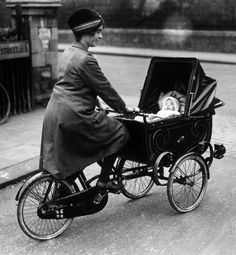 'On a Roll' ~ This innovative cycle-pram combo helped to give women of the 1920's access to a life outside the home.