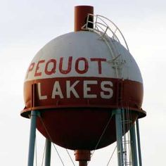 Fishing bobber water tower In Pequot Lakes, MN. I've seen this, quite impressive!