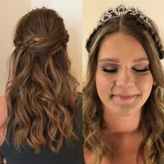 From boho braids and beach waves to her sparkling tiara and flirty lashes, I had the best time today creating this beauty's #prom2017 look! #antonssalon #moroccanoil #avedamakeup